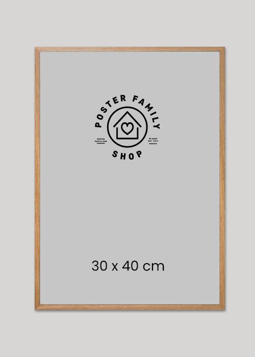 Træ glasramme I størrelse 30x40, 50x70 eller 70x100.